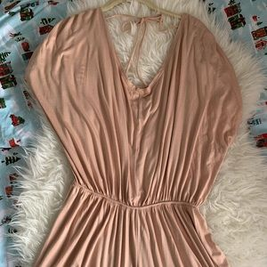 Cecico Dusty Pink Short Sleeve Romper - S